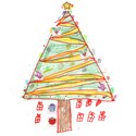 Kid's Drawing of Christmas Tree