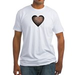 Rusty Iron Heart Anti Valentine Fitted T-Shirt