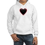 Black Glossy Heart Anti Valentine Hooded Sweatshir