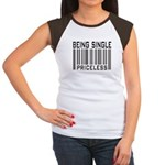 Being Single Priceless Dating Women's Cap Sleeve T