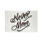 Never More Anti Love Tattoo Rectangle Magnet (100