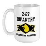 2-27 Infantry Wolfhounds Large Mug