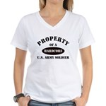 Property Hardcore US Army Sol Women's V-Neck T-Shi