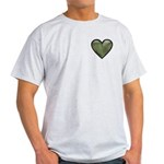 Love Military Cammo Heart Light T-Shirt