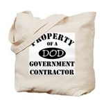 Property of a DOD Government Contractor Tote Bag