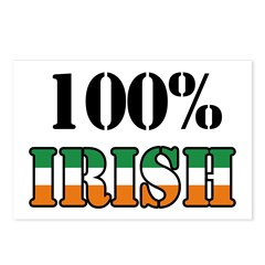 100 Percent Irish T-Shirts Postcards (Package of 8)