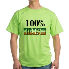 100 Percent Irish T-Shirts Green T-Shirt