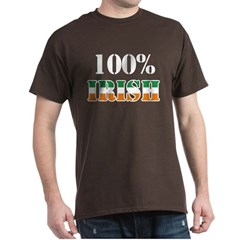 100 Percent Irish T-Shirts Dark T-Shirt