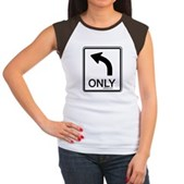 Left Only Women's Cap Sleeve T-Shirt