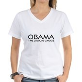 Logical Obama Women's V-Neck T-Shirt