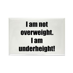 I am not overweight... Rectangle Magnet