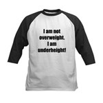 I am not overweight... Kids Baseball Jersey