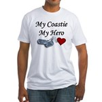 USCG Coastie Hero Dog Tags Fitted T-Shirt