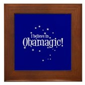 I Believe in Obamagic Framed Tile