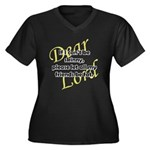 Lord, If I Can't Be Skinny, Let My Friends Be Fat Women's Plus Size V-Neck Dark T-Shirt