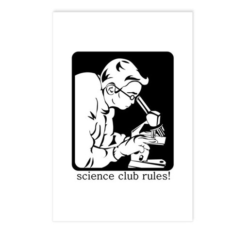 Science Club Rules Postcards (Package of 8)