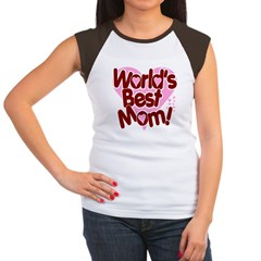 World's BEST Mom! Women's Cap Sleeve T-Shirt