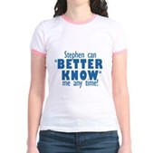 Stephen Can Better Know Me Jr. Ringer T-Shirt