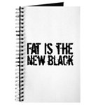 Fat Is The New Black Funny T-Shirts & Gifts Journal