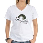I Love My Soldier Army Rainbow Women's V-Neck T-Sh
