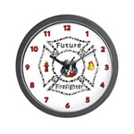 Future Firefighter Dalmation Wall Clock