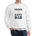Proud Navy Dad Military Sweatshirt