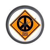 Peace Ahead Wall Clock