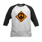 Peace Ahead Kids Baseball Jersey