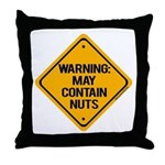 May Contain Nuts! Throw Pillow