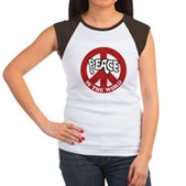 Peace is the word Women's Cap Sleeve T-Shirt