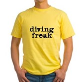 Diving Freak Yellow T-Shirt