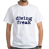 Diving Freak White T-Shirt
