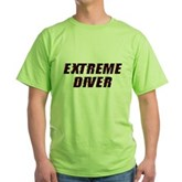 Extreme Diver Green T-Shirt