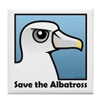 Save the Albatross (close-up) Tile Coaster
