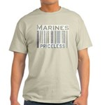Marines Priceless Barcode Military Light T-Shirt