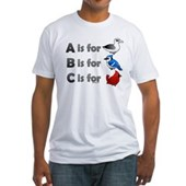 B is for Birdorable Fitted T-Shirt
