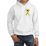 I Am Proud Of My Son Yellow Ribbon Hooded Sweatshi