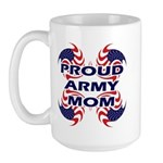 Proud Army Mom - Military Sup Large Mug