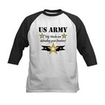 Army Uncles Defending Freedom Kids Baseball Jersey