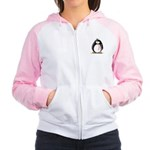 Breast Cancer penguin Women's Raglan Hoodie