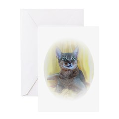 Abyssinian Cat Christmas Cards