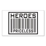 Heroes Priceless Support Our Troops Sticker (Recta