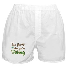 Time Flies When You're Fishing Boxer Shorts