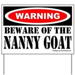 Beware Nanny Goat Yard Sign