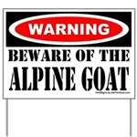Beware Alpine Goat Yard Sign