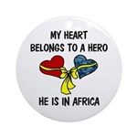 Navy Hero Africa Ornament (Round)