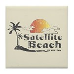 Satellite Beach Tile Coaster