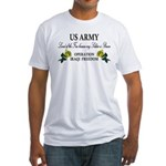 US Army OIF My soldier is brave Fitted T-Shirt