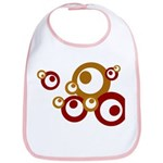 Retro Orange Circles Bib