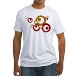 Retro Orange Circles Fitted T-Shirt
